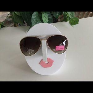 Betsey Johnson bling sunglasses w/hard case NWT